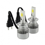 LED gaismas diožu spuldze H7 / IP-65 / 36w / DC9-32v / 8000 LM  / 6500k / Aviation aluminium 6063 :: LED lampas H un HB Tips