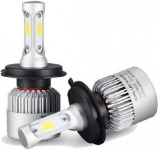 LED gaismas diožu spuldze H4 / IP-65 / 36w / DC9-32v / 8000 LM  / 6500k / Aviation aluminium 6063 :: LED lampas H un HB Tips